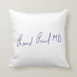 Rand Paul MD Signature Autograph Throw Pillow