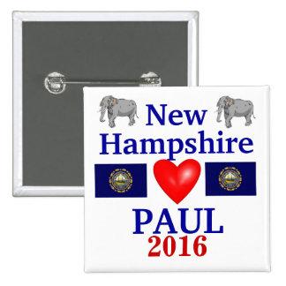 Rand Paul New Hampshire 2012 Pin Cuadrado