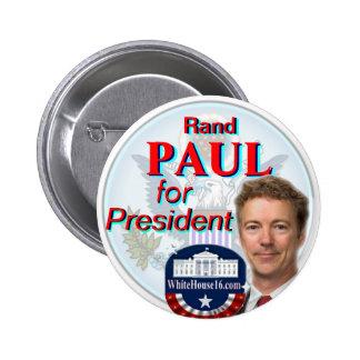 Rand Paul para el botón del presidente gran sello Pin Redondo De 2 Pulgadas