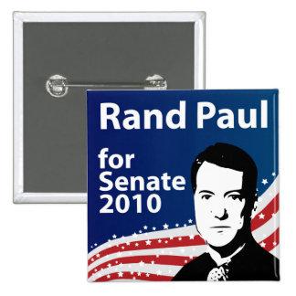 Rand Paul para el botón del senado 2010 Pin Cuadrado