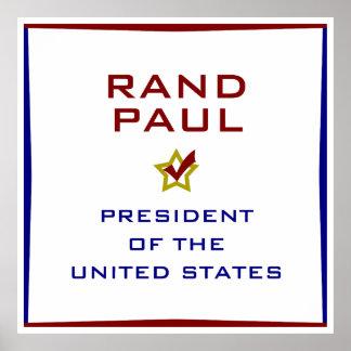 Rand Paul para el poster del presidente los