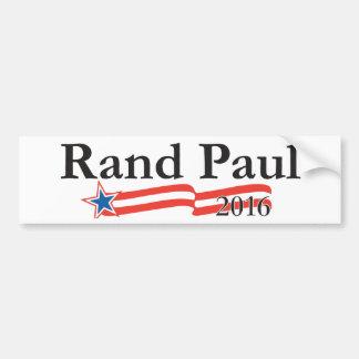Rand Paul para el presidente 2016 Pegatina Para Auto