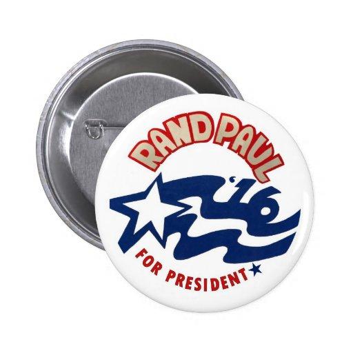 Rand Paul para el presidente 2016 Pin