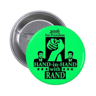 Rand Paul para el presidente 2016 Pins