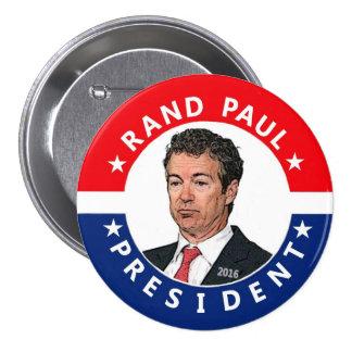 Rand Paul para el presidente 2016 Pin Redondo 7 Cm