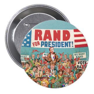 Rand Paul para el presidente 2016 Pin Redondo De 3 Pulgadas