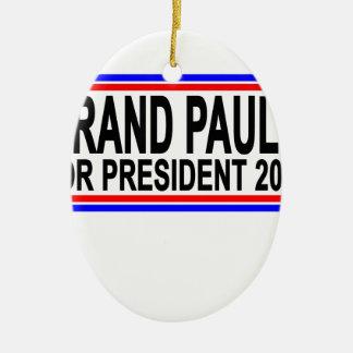 RAND PAUL PARA el PRESIDENTE 2016.png Adorno Navideño Ovalado De Cerámica