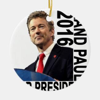 RAND PAUL PARA EL PRESIDENTE 2016 '' .PNG ADORNO NAVIDEÑO REDONDO DE CERÁMICA