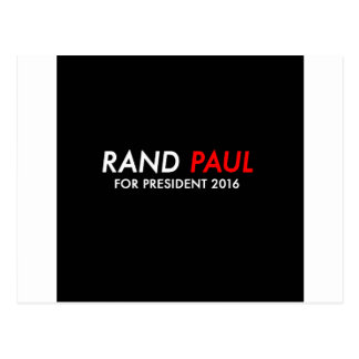 Rand Paul para el presidente 2016 Postal