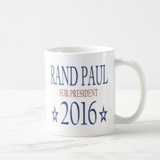 Rand Paul para el presidente 2016 Taza Básica Blanca