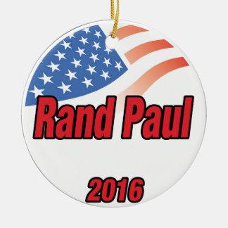 Rand Paul para el presidente en 2016 Adorno Navideño Redondo De Cerámica