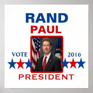 Rand Paul para el presidente en 2016 Póster
