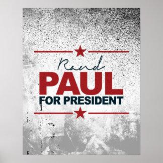 Rand Paul para el presidente firma 2016 Póster