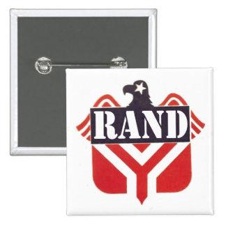 Rand Paul para el presidente Pin Cuadrada 5 Cm