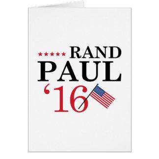 Rand Paul para el presidente Tarjeta De Felicitación