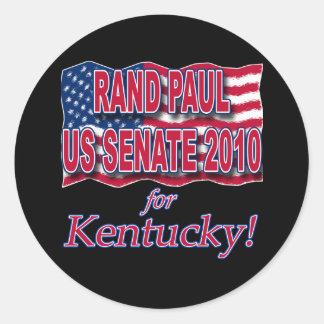 Rand Paul para las camisetas y los botones del Pegatina Redonda