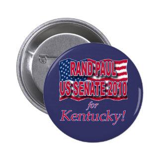 Rand Paul para las camisetas y los botones del sen Pin Redondo De 2 Pulgadas