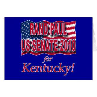 Rand Paul para las camisetas y los botones del Tarjeta De Felicitación