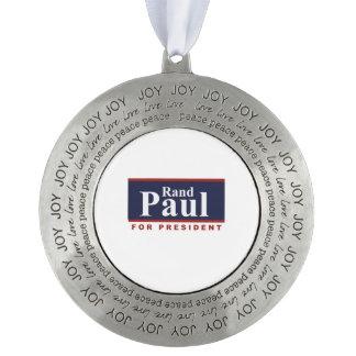 Rand Paul para presidente Campaign Sign 2016 Adorno Redondo De Peltre