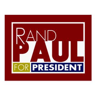 Rand Paul para presidente V1 Postales