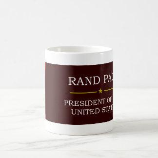 Rand Paul para presidente V3 Taza Básica Blanca