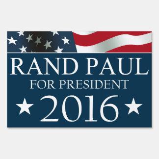 Rand Paul President 2016 American FLAG Lawn Sign