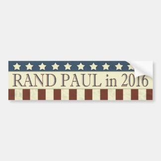 Rand Paul President 2016 Stars Stripes Bumper Sticker