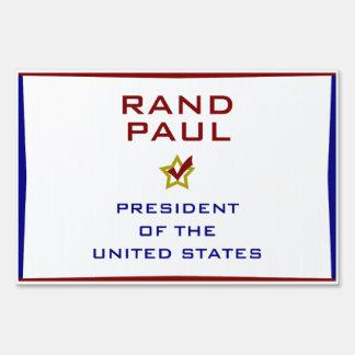 Rand Paul President USA V2 Yard Sign