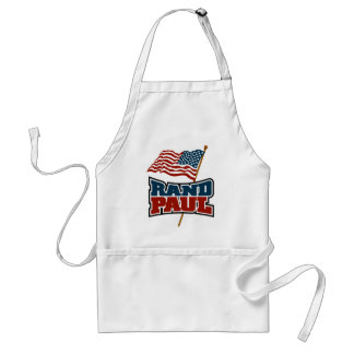 Rand Paul que agita la bandera americana Delantal