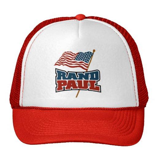 Rand Paul que agita la bandera americana Gorras De Camionero