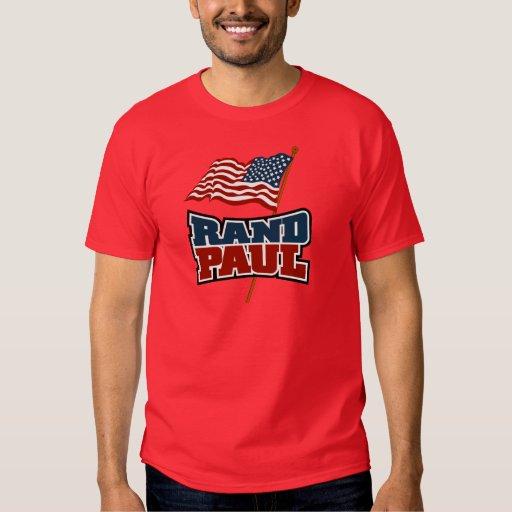 Rand Paul que agita la bandera americana Playera