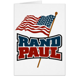 Rand Paul que agita la bandera americana Tarjeta De Felicitación