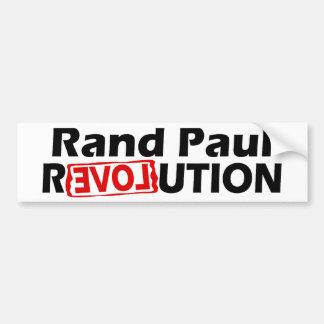 Rand Paul Revolution Conservative Car Bumper Sticker