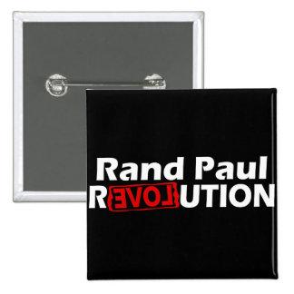Rand Paul Revolution Conservative 2 Inch Square Button