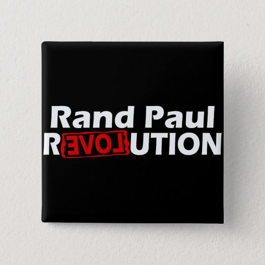 Rand Paul Revolution Conservative Pinback Button