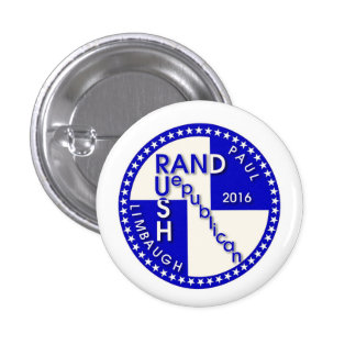 Rand Paul / Rush Limbaugh 2016 1 Inch Round Button