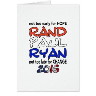 Rand Paul Ryan 2016 Presidential Election Cards