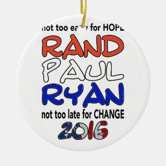 Rand Paul Ryan 2016 Presidential Election Ceramic Ornament