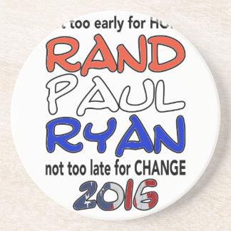 Rand Paul Ryan 2016 Presidential Election Beverage Coaster