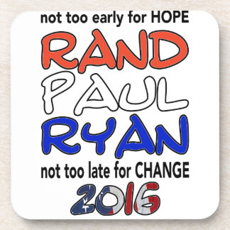 Rand Paul Ryan 2016 Presidential Election Drink Coaster