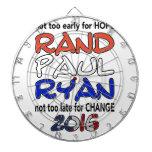 Rand Paul Ryan 2016 Presidential Election Dartboard With Darts