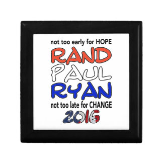 Rand Paul Ryan 2016 Presidential Election Gift Box