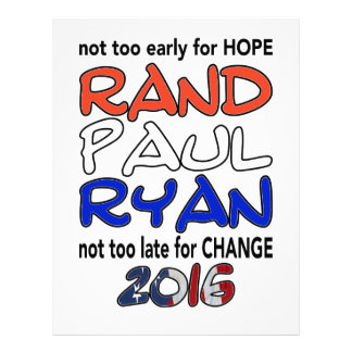 Rand Paul Ryan 2016 Presidential Election Letterhead