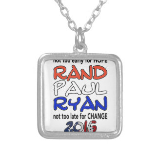 Rand Paul Ryan 2016 Presidential Election Square Pendant Necklace