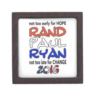 Rand Paul Ryan 2016 Presidential Election Premium Keepsake Boxes