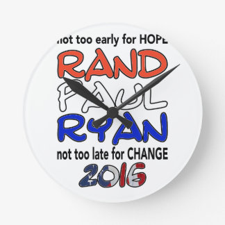 Rand Paul Ryan 2016 Presidential Election Round Clock