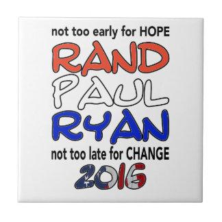 Rand Paul Ryan 2016 Presidential Election Ceramic Tile
