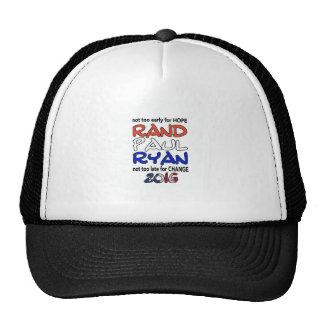 Rand Paul Ryan 2016 Presidential Election Trucker Hat