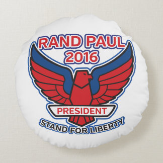Rand Paul Stand for Liberty Round Pillow