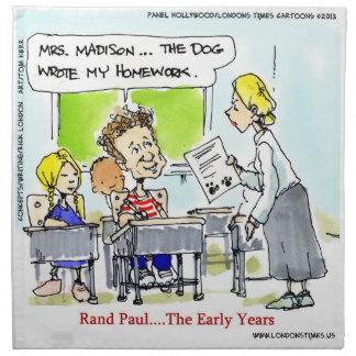 Rand Paul The Early Years Funny Cloth Napkins Cloth Napkin
